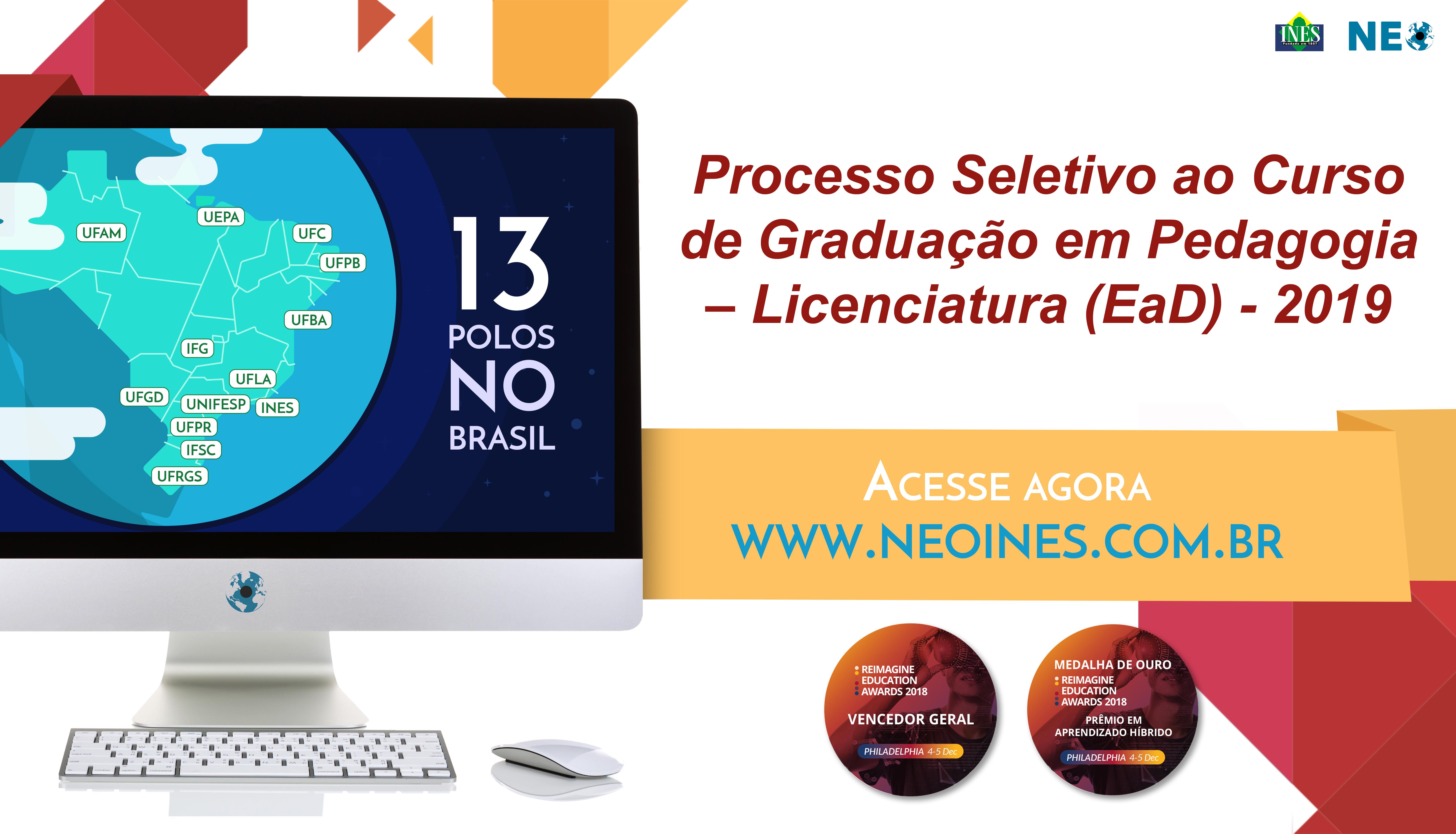 NEO - Processo Seletivo Curso Pedagogia EaD