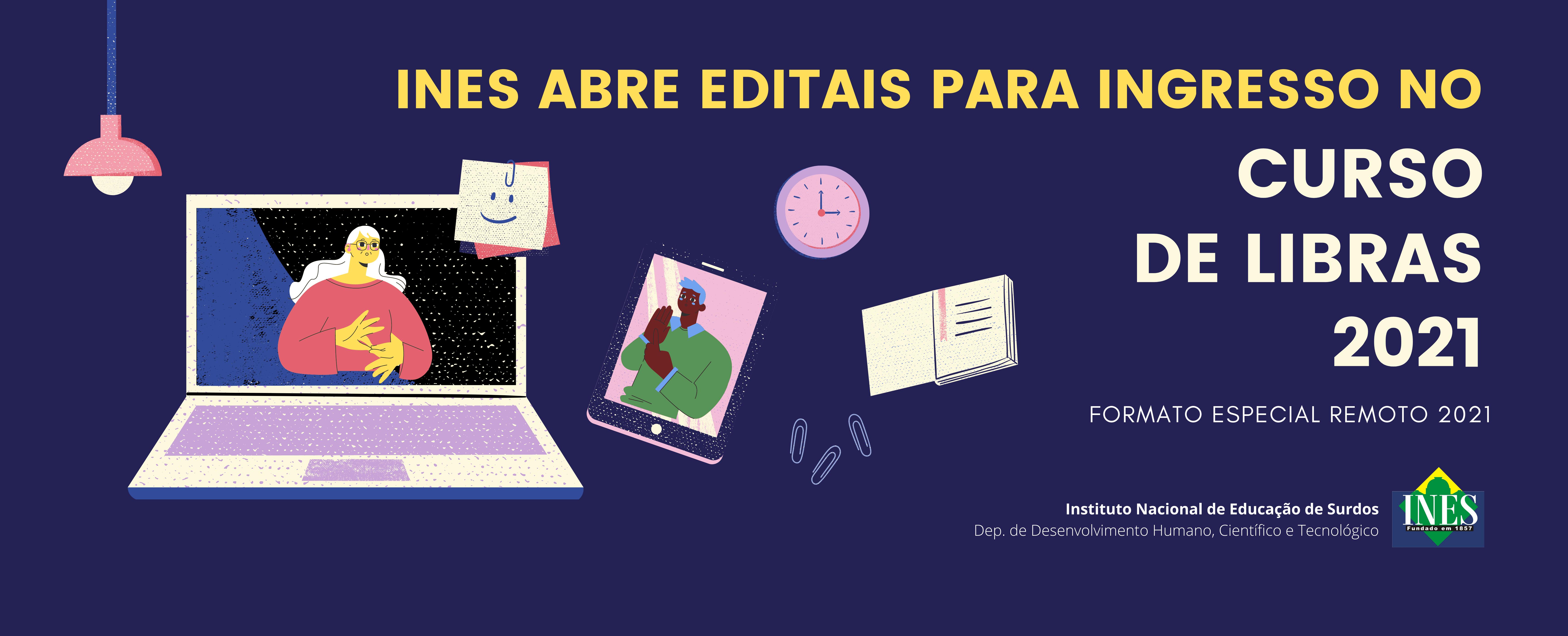 INES abre editais para Curso de LIBRAS