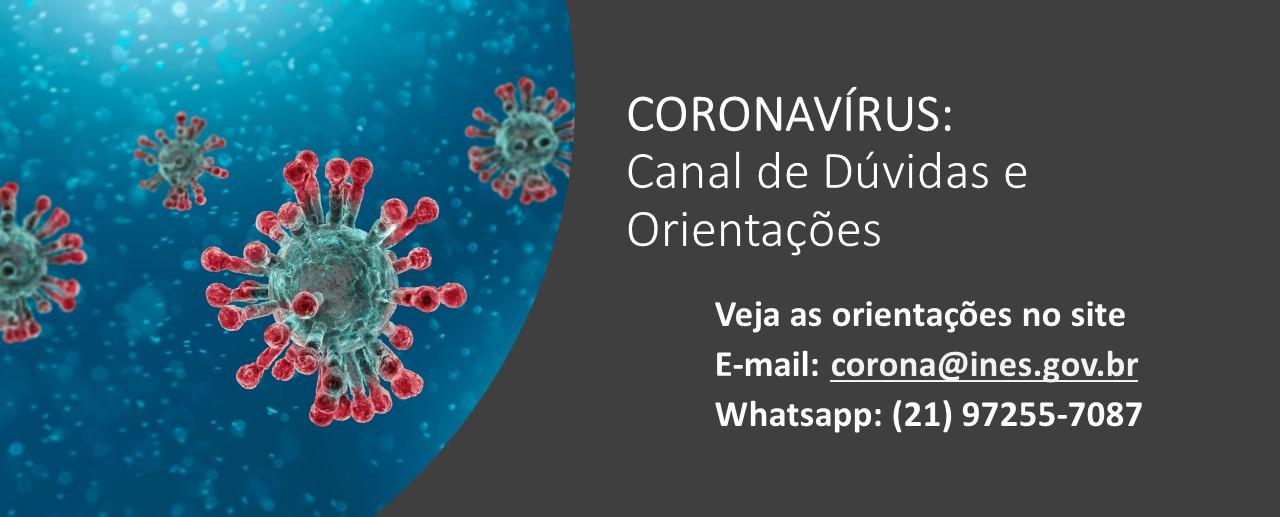 Coronavírus: canal de dúvidas e orientações