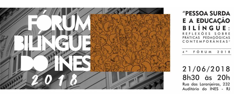 Próximo Fórum Bilíngue do INES será no dia 21 e já tem inscrições abertas