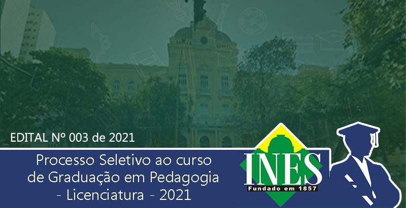 Vestibular 2021/2022 - Graduação em Pedagogia