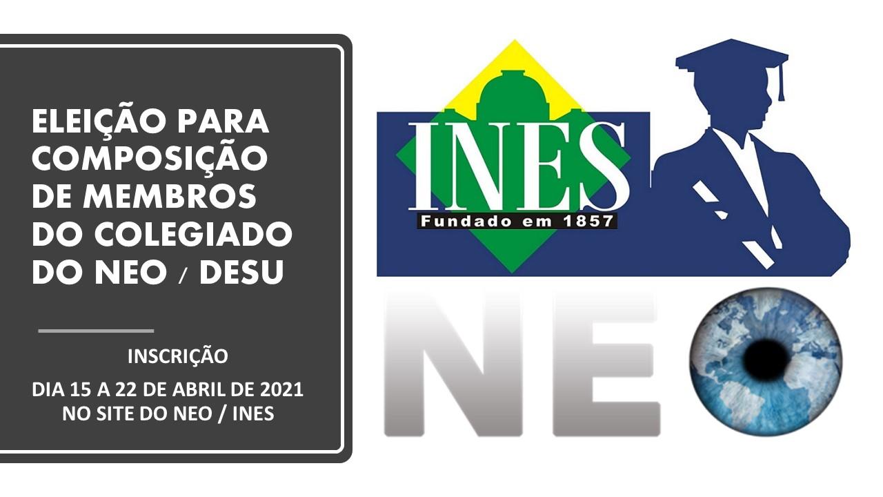 Edital 001/2021- Eleição dos Membros do Colegiado do NEO / DESU